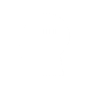 An icon of a silhouette of a head with a plus symbol on it.