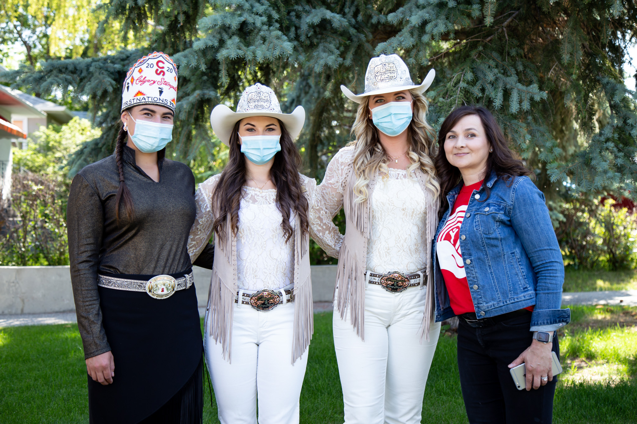 GrGroup shot of the Stampede Princess' with United Way VP