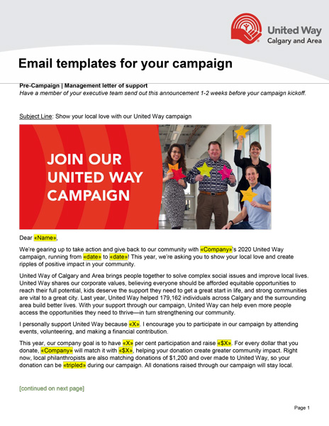 Campaign email templates preview