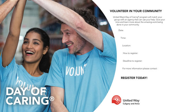 Day of Caring® template preview
