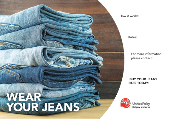 Jeans Pass poster template preview