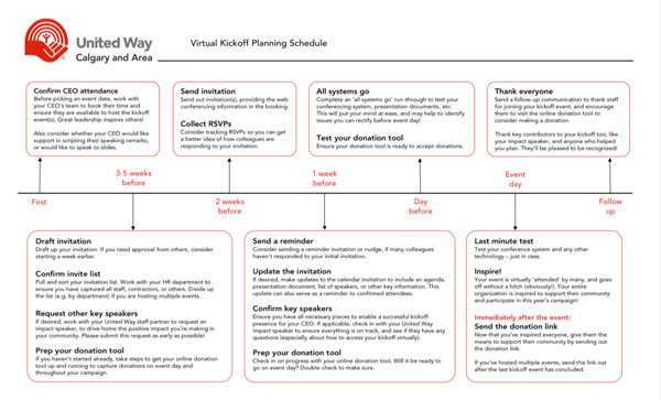 Virtual Kickoff Planning Schedule preview