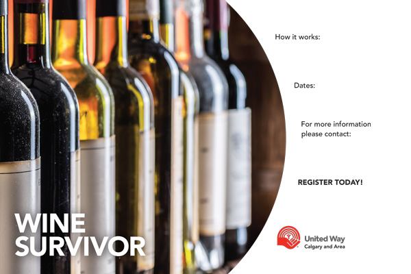 Wine Survivor poster template preview