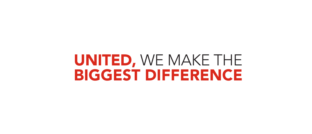 United, we make the biggest difference!