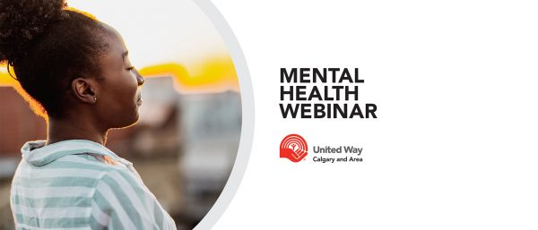 Girl standing peacefully outside. Mental health webinar. United Way of Calgary and Area.