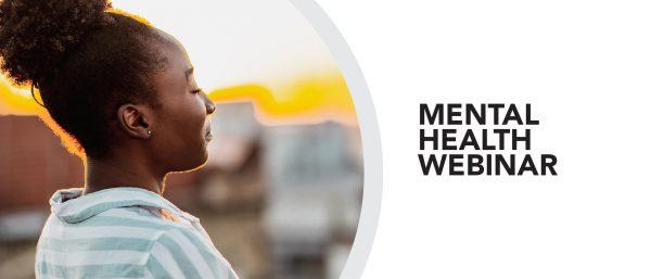 Girl standing peacefully outside. Mental health webinar.