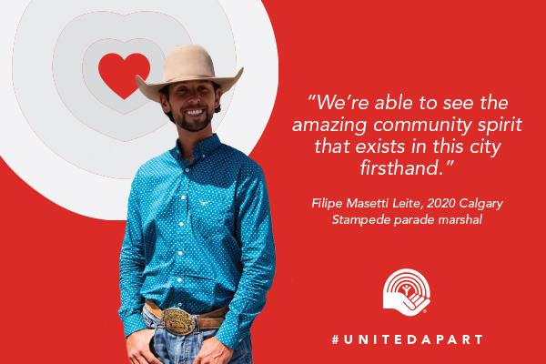 Filipe Masetti Leite, 2020 Calgary Stampede parade marshal
