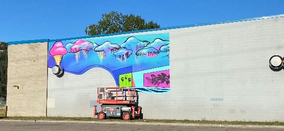 Shouldice Mural, work in progress.